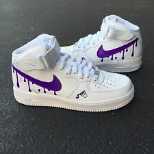 SIZE 8.5 Nike Air Force 1 CUSTOM DIRTY SPRITE Bape Jordan Supreme Future White