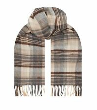 Men's Mulberry Check Merino Cashmere Checked  Scarf RRP £180 NEW & BOXED
