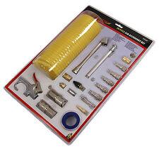 20pc Strumento Aria Aria Accessorio Kit Inc. 25FT TUBO Air Colpo pistola ugello compressore.