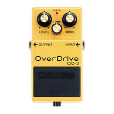 BOSS OD-3 Overdrive Guitar Effects Pedal - Free 6in Fender Patch Cable