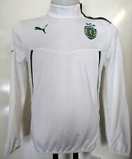 SPORTING LISBON BOYS 1/2 ZIP TRAINING JACKET BY PUMA SIZE 10/11 YEARS BRAND NEW