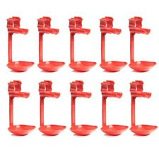Chicken Water Drinkers cups x 10 pcs Duck Hen Screw In Poultry Cup Animal Supply