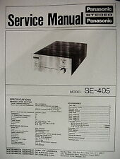 PANASONIC SE-405 CD-4 SYSTEM DISC DEMODULATOR SERVICE MANUAL 5 Pages