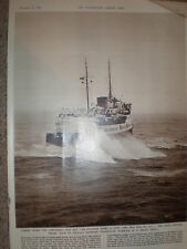 Photo article cross channel ferry maid of Orleans entering Folkestone 1956