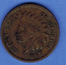 1897 INDIAN HEAD PENNY CENT US COIN FULL LIBERTY....... SA 276