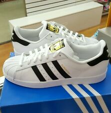 ADIDAS SUPERSTAR  WHITE / BLACK. C77124  Men's Size US 8.5