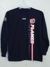 NEW w/Minor-Flaw NHL Calgary Flames YOUTH MEDIUM M 10/12 Reebok Shirt
