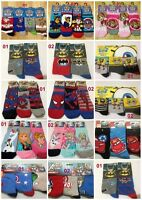 Boys Girls Kids Socks packs Spiderman Avangers Frozen Batman Paw Patrol