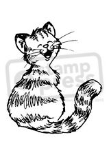 A7 'Smiling Cat' Unmounted Rubber Stamp (SP005066)
