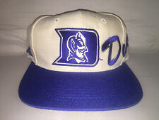 Vtg Duke Blue Devils Script Snapback hat cap rare 90s Apex One NCAA College