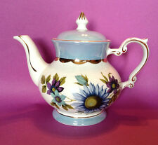 Gibsons Teapot - Marked Tiffany Staffordshire England - Blue Purple Gold
