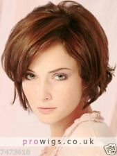 100% Real Hair! Fashion Women Short Natural Straight Brown Hair Party Wig NEW