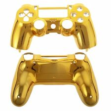Gold Chrome Custom Replacement PS4 Controller Hydro Dipped  Shell Mod Kit