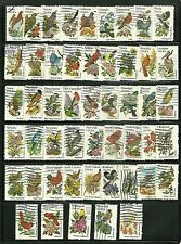 US 1953-2002 State Birds& Flowers complete  set of 50 used  singles 1981 RARE #