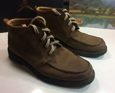 FLORSHEIM DUCKIE BROWN Suede Chukka Laced Ankle Boots Men's Sz 9 M