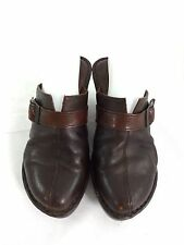 BORN BROWN LEATHER CLOGS SHOES WOMENS US 8 EUR 39