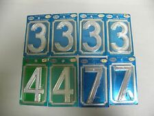 "Lot Of ""8"" NOS Glo-Brite Co. Reflector Reflective House Address Numbers (A8)"
