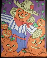 "Autumn Fall Halloween House Flag Pumpkins Scarecrow Seasonal Large 29"" x 41"""