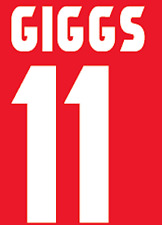 Manchester United Giggs Nameset Shirt Soccer Number Letter Heat Football Home