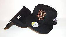 NEW ERA HAT CAP FITTED SAN FRANCISCO GIANTS SIZE 6 7/8 BLACK ONFIELD 2002 VINTAG