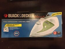 Brand New Black & Decker ICR517 First Impressions cord Reel Iron