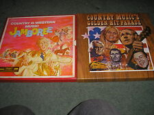 2 BOX SETS-COUNTRY MUSIC'S GOLDEN HIT PARADE & COUNTRY AND WESTERN JAMBOREE NM
