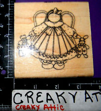 ANGEL GIRL DOLLS DRESS RUBBER STAMP FINDERS KEEPERS ARTISTIC