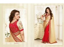 Designer Saree Indian Bollywood Pakistani Partywear Red Grand Sari Bridal Wear