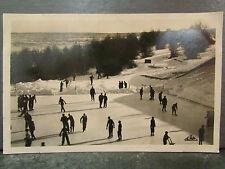 cpa 88 la patinoire du markstein les vosges en hiver patineurs patinage