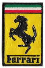 Ferrari rectangular embroidered patch