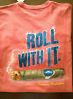 NEW TOMMY BAHAMA CREW NECK T SHIRT ROLL WITH IT CIGAR SHORT SLEEVE RED M