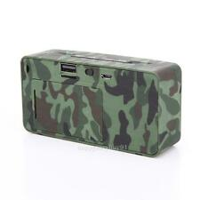 Camouflage Stereo Wireless Bluetooth Speaker with TF USB For Camping/Cycling