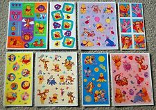 8 Sheets HUGE LOT Disney Winnie the POOH Hallmark Scrapbook Stickers Tigger