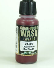 Vallejo Game Color WASH RED SHADE 73.206 17ml Acrylic Paint 73-206