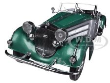 1939 HORCH 855 ROADSTER GREEN  1/18 DIECAST MODEL CAR SUNSTAR 2404