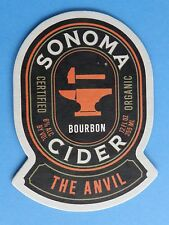 Cool Beer Coaster  ^  SONOMA CIDER Co The Anvil Bourbon Apple Cider ~ CALIFORNIA