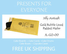 100 x Jiffy Airkraft Gold Bubble Lined Postal Padded Mailing Bags JL-GO-00 B/00