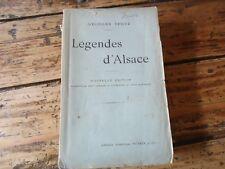RARE LEGENDES D'ALSACE GEORGES SPETZ POEME LEGENDE 1912 CHATTE BLANCHE DIABLE