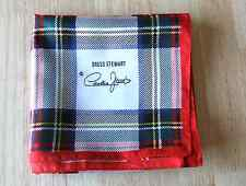 VINTAGE CORNELIA JAMES DRESS STUART RED TARTAN SCARF