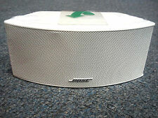 NEW White Bose Jewel Cube Center Channel Speaker slight cosmetic imperfections