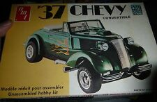 AMT 1937 Chevy Cabriolet 3N1 STREET RODS T141 1/25 Model Car Mountain OPEN