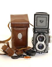 Rolleiflex  T Grey Trim F3.5 Zeiss Tessar TLR 6x6 Film Camera (0085)