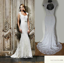 *MONSOON*White/Ivory Embellished Lace HELEN Fishtail Wedding Maxi Dress 12 £499