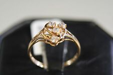 STUNNING 22K SOLID YELLOW GOLD RING WITH WHITE SAPPHIRES  size 8.5