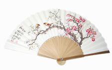 Pocket Folding Flower Korean Paper Bamboo Hand Fan Dance tradition