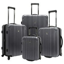 Traveler Choice Gray Luxembourg 4-Piece Spinner Suitcase Rolling Luggage Bag Set