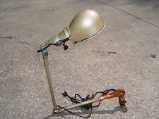 Vintage Sears machinist arm lamp Gas Station metal Light Shade Industrial Barn