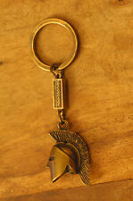 Ancient Greek Themed Keyring - Spartan Helmet 300 Gold Zamac