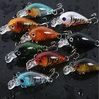 New Lot 5Pcs Plastic Fishing Lures Bass CrankBait Crank Bait Tackle 4.5cm/4g