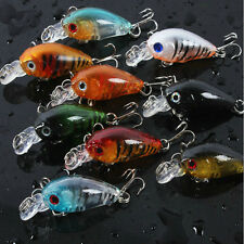 New Lot 5Pcs Plastic Fishing Lures Bass CrankBait Crank Bait Tackle 4.5cm/4g